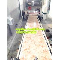 Cheap Eco-friendly, radiationless plastic PVC marble wall panet production line for sale