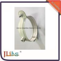 Quality White Coating Wall Mount Pipe Clamp , Galvanised Steel Down Pipe Clamp wholesale