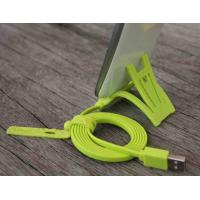 Cheap Green TPE HTC Cell Phone Powered Micro USB Data Cable 2.0 With Sync Data for sale