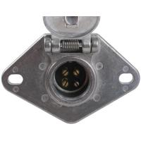 Best Metal Trailer Electrical Socket , 4 Pin Trailer Connector With Lid wholesale