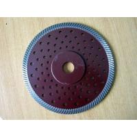 China Dark Red  Circular  Turbo Diamond Saw Blade , 230mm Angle Grinder Diamond Blade Concrete on sale