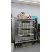 Best 3 Deck 12 Trays Electric Oven For Baking , Big Glass Door Gas / Electric Deck Pizza Oven wholesale