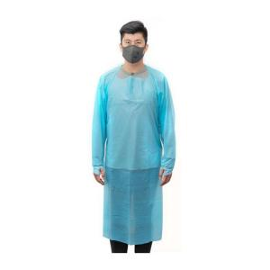 Best Personal Protective CPE Disposable Blue Lab Coats Gowns With Sleeves wholesale