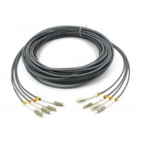 Buy cheap LC - LC Multimode Fiber Patch Cord , 6 Core Gray Armored Patch Cable For FTTH from wholesalers