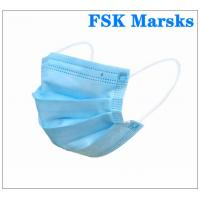 Best Anti Spray 3 Ply Surgical Face Mask With Melt Blown Cloth , EN14683 Type I wholesale