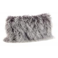 Best Tibetan Sheepskin Sofa Pillow Covers 10-15cm Long Curly Hair For Bed / Sofa / Chair wholesale