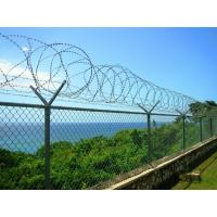 Government Buildings Cross / Single Coiled Razor Wire With Smooth Surface