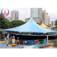 Quality Modern Universal Fabric Canopy Structures , Park Shade Structures Fabric Covered wholesale