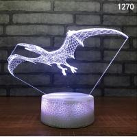 Best Hot sale 3D LED Illusion Victory Gesture Touch Control 7 Colors Change Night Light with USB Charger For Kids Christmas wholesale