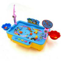 Best 2019 Good quality Fishing Toys Child Music Playing House USB Electronic Fishing Platform Spin Magnetis For chlidren kids wholesale