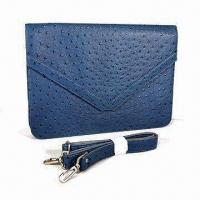 Best Ostrich Embossed Shoulder Bag in Blue, Suitable for iPad, OEM/ODM Orders are Welcome wholesale