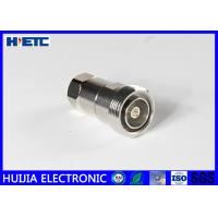 """Best RF Straight Female Din Connector , TFE Insulators 50ohm 1/2"""" Coaxial Cable Adapter wholesale"""