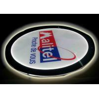 Best Crystal Round Picture Frame LED Illuminated Light Box For Display Portriat Image wholesale