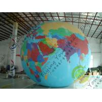 Cheap Durable Huge Earth Balloons Globe , Inflatable Helium Filled Balloons for sale