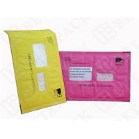 Best Custom Made Recycled Kraft Bubble Mailer Green / Pink With Window wholesale