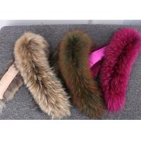 Best Raccoon fur collar Luxury Real Long Raccoon Fur Detachable Collar for Jacket wholesale