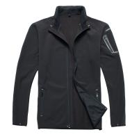 China 100% Polyester Men Multi Function Jacket For Hunting Black Color on sale