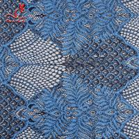 China Embroidered Voile Lace Fabric For Wedding Dresses Cricking Color Fastness on sale