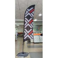 Best Advertising Promotional Feather Flags Printing , Full Color Feather Swooper Flags Durability wholesale
