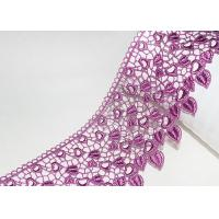 Best Pink Guipure Embroidered Lace Trims With Heart-shaped African Cord Lace Design wholesale