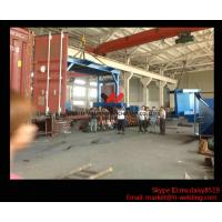 Best Eco-friendly High Speed H Beam Shot Blasting Machine With Rubber Curtain / CE Approved wholesale