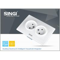 Cheap Electric light Wall Switch Socket / Europe Double wall socket for sale