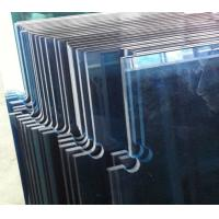 Quality 10mm Tempered Safety Glass Doors with Cutouts for Patch Fittings Ford Blue Colour wholesale