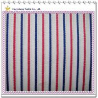 Best 55 Cotton 45 Polyester Jacquard Fabric, White&Red Stripe wholesale