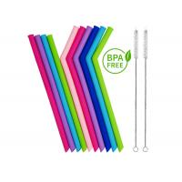 Best Reusable Silicone Smoothie Straws BPA Free - EXTRA WIDE , Eco Friendly for Safely Drinking Hot & Cold wholesale