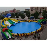 Best Outdoor PVC Inflatable Water Park OEM Customized With Pool Water Slide wholesale