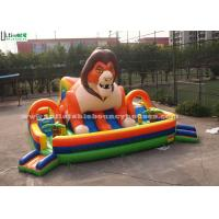 Best Custom Outdoor Huge Super Lion Inflatable Games Playground For Kids wholesale