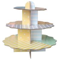 China Personalised Cardboard Cake Stand Down Packing For Advertisement / Promotion on sale