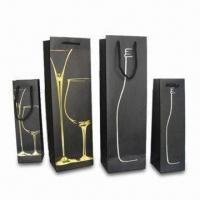 Best Wine Gift Bags with PP Handle, Sized 9 x 9 x 33cm wholesale