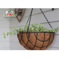 Best Fashion Colorful Decorative Hanging Flower Pots Garden Ornamental wholesale