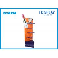 China Lipstick Foldable Makeup Retail Display , 4 Tiers Custom Cardboard Display Stands on sale