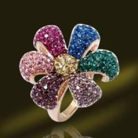 Best Fashion Crystal Ring 925 Sterling Silver Jewelry Rings (RSL4008) wholesale