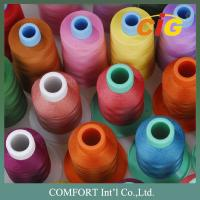 Quality Customized Color Sewing Machine Threads 100% Spun Polyester For Garment wholesale