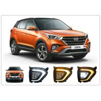 Best Hyundai Creta 2018 2019 LED Fog Lamps , Daytime Running Lights with Yellow Turn Signal wholesale