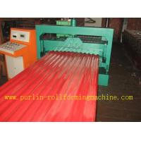 Best CE Corrugated Roof Panel Roll Forming Machine PANASONIC Transducer For Chain Drive wholesale