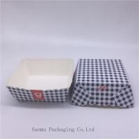 Best Disposable Square Cupcake Liners , Black And White Checkered Cupcake Wrappers wholesale