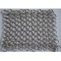 Best High Precision Wire Mesh Scrubber / Cast Iron Chain Cleaner Polishing Surface wholesale