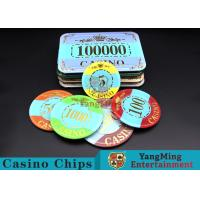 Best Customizable Casino Poker Chips of Crown Bronzing Rectangular / Round Shape wholesale