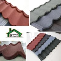 Best Alu-Zinc plate Stone Chip Coated Metal Roof Tiles  Ripple Model 1340*420mm wholesale