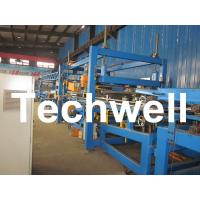 Best 32KW, 50 - 250mm Rock Wool Insulated Sandwich Panel Line Machine For Prefabricated House wholesale