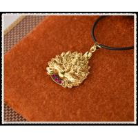 Best Peafowl Pendant Necklace With 999.9 Percent Gold Foil Inside , 24K Gold Plated Jewelry For Girlfriend wholesale