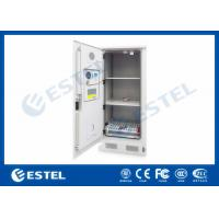 Three Layers Metal Outdoor Battery Street Cabinets Telecoms With Water Sensor