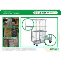 China Wire Mesh Rolling Cage Container Folding 4 Sided Heavy Duty HBE-RC-4 for Sale on sale