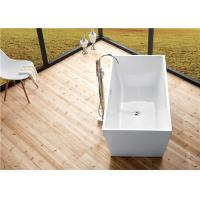 Cheap Seamless Acrylic Square Freestanding Bathtub With Pop - Up Drainer Durable for sale