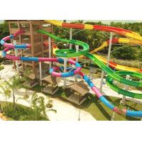 Best Combination Classic Outdoor Pool Slide Fiberglass Galvanized Carbon Steel Frame wholesale