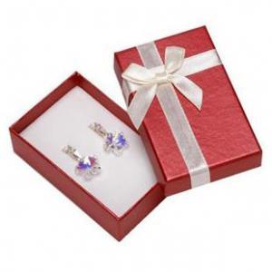 Best Faux Velvet Insert Jewelry Gift Boxes , OEM / ODM Jewelry Box For Pierced Earrings wholesale